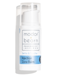 Modor + Bearn Injection Zone Balm - A simple step to soothe sore, red skin after injections.
